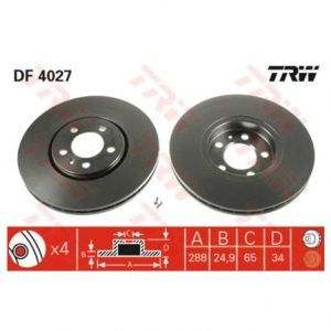DISCO FRENO AUDI A3 1.8 T (8L1) 1.8 LT. 150HP 96-03 1J0615301C
