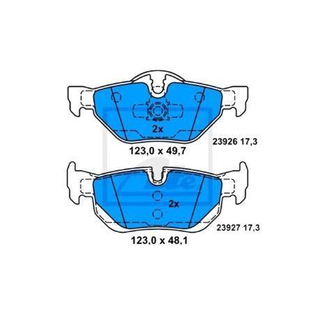JUEGO BALATAS FRENO BMW 120i (E87) 2.0 LT. 150HP 03-12 34216767150