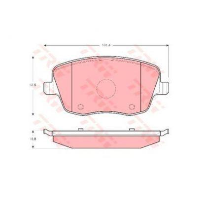 JUEGO BALATAS FRENO SEAT IBIZA (6L1) 1.6 LT. 101HP 03-09 6Q0698151A