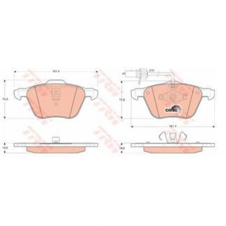 JUEGO BALATAS FRENO SEAT ALHAMBRA 1.8 T (7V9) 1.8 LT. 150HP 02-07 7M3698151A